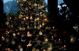 Geschmückter Christbaum / Weihanchtsbaum bei Ravensburg