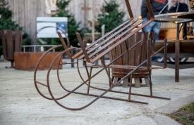 Weihnachtsbaummarkt Ravensburg - alter Schlitten